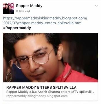 Rapper maddy enters splitsvilla #Rappermaddy #splitsvilla #mtv #love #God