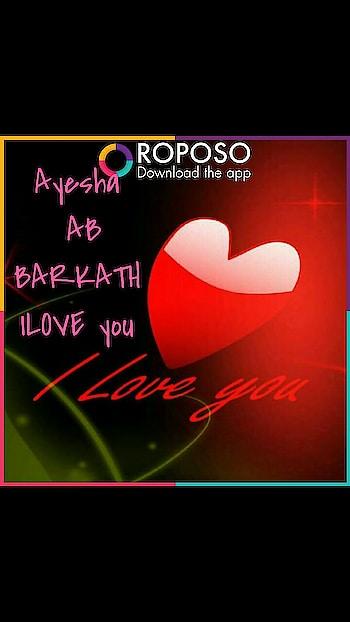 Ayesha BARKATH  A B ILOVE YOU