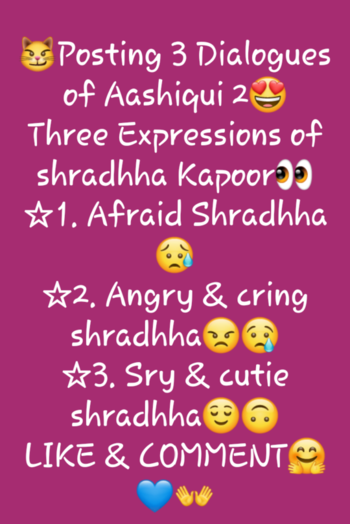#likecomment Aashiqui 2 Dialogue on demand :)☺ I will always fulfil your Requests, i read all the comments and try to do the requested songs and dialogues😌🦄👻😶 #aashiqui2 #aashiqui #BollywoodDialogue #Actress #shradhakapoor #arohi #rahul #tumhiho #Bollywood #cutecouple #Sad #romantic #bestactress #himaniparashar #badgeme @roposotalks #hardworkpaysoff #Passion #Acting #Act #Bar #Loveintheair #loveyourself