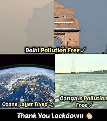 #lockdown #pollutionfree #india