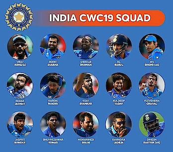 #World cup2019 Squad