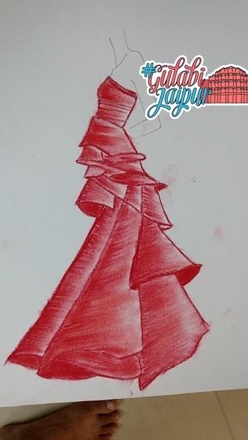 #roposotalenthunt #illustrations#westrenwear #indianwear #gulabijaipur