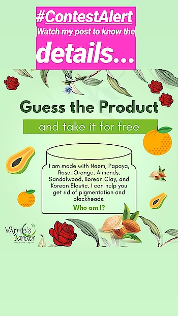 Contest Alert!  Guess the name of the product and have it for free.   ***Contest Rules*** • Like the post. • Follow our page @winniescandorpurenatural @tejaswini_skin_makeupartist • Tag 3 friends • Comment your answer followed by #winniescandor  #naturalskincare #tejaswiniskinmakeupartist • One lucky person will win this product for free.  Hint: The product is listed on www.winniescandor.com.  Note: Winner will have to pay for the delivery charges which will not be more  than Rs. 70.  #giveaway #freebies #winniescandor