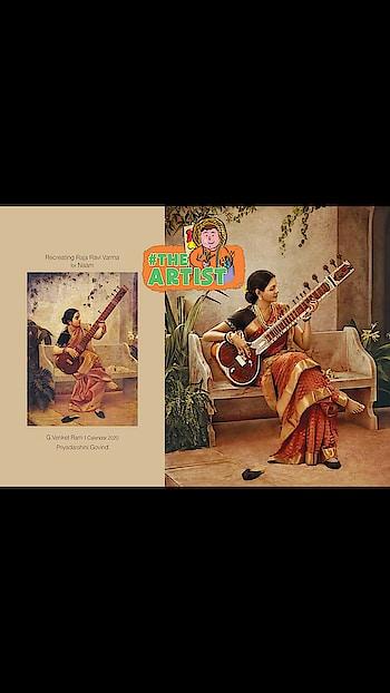 #roposocreativespacechannel   Renowned #photographers_of_india   G Venket Ram's Calendar #2020   for Naam - Recreating Raja Ravi Varma #paintings ... with #southindianactress#. 2