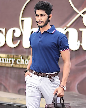 Blue Hue ! . . T-shirt from - @fugazeeinc . . . Trouser from - @kollars.for.mens . . Shot by - @thedaydreamstudio . . #TSDFAM  #TSDSTYLE  #thestyledweller  #lacetee #daydreamstudio #fugazee #polocollar #mensfashionreview #menshair  #mensfashion  #mensfashionpost  #menwithstreetstyle  #menwithclass  #fashiontrend  #blue #fashioninfluencer  #fashion #ootd #trendsetter #wiwt  #menblogger #roundneck #suratblogger  #surat #indianblogger  #india