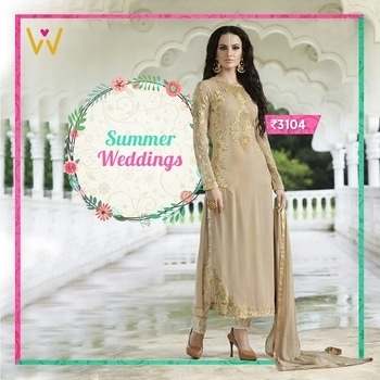 Look for more than just clothing while shopping for your wedding!  Shop here at WedLista.com for #SalwarSuits in all designs possible!  Product Code: SNDCCGL9809  #WedLista #FashionForWeddings