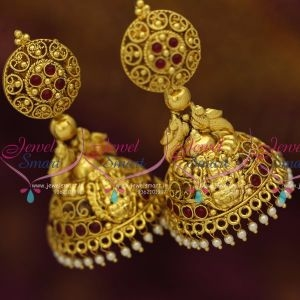 #earrings  #heavyjhumakas#templejewellery