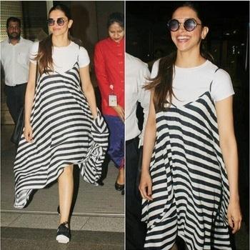 Deepika Padukone Dress-All About You Shoes-Nike Styled by-Shaleena Nathani
