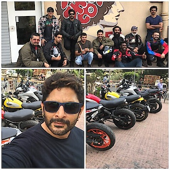 #circuit #arshadwarsi with #bikes and #friends #filmistaanchannel