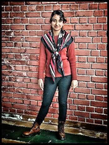 Life is too short to wear boring clothes! 😆  My insta - @bold.and.sassy  #pankhuribhatnagar #boldandsassy #scarf #muffler #stole #red #redhot #boots #pants #black #redblack #top #styleblogger #stylebloggerindia #indiangirls #cowboystyle