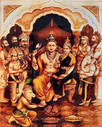 👉 Maha-Shivarathri prayukta Sri Rudra Devara chintana..... (as per Madhva sampradaya)  One of the Trinity Gods (Brahma-Vishnu-Maheshwara) ruling Thamasa guna (Ahankaara Tattva);  Lord Shiva (Rudra) is Mano-abhimani devatha;  Mano-niyaamaka the controller of the MANASU.  In Dvaita, Sri Rudra Devaru is placed fairly high in 5th Kaksha along with Garuda & Sesha Devaru as per Tattvavaada/Taratamya;  Basically Lord Shiva is son of Lord Brahma (Virinchi Thanaya) and as such grand son of Lord Vishnu.  One of the Trinity Lords (Brahma-Vishnu-Maheshwara) Lord Shiva is a Vedic God,  the one who is entrusted with the role of destruction (Layakaraka) with Sankarshana roopi Paramatma as his antaryaami.  One of the Ashta Dikkpaalakas (Eeshaana), guardian of the north-east direction;  The one who is bearing Vishnu Padodbhavi (holy Ganga ) on his head; the one who became a platform for the holy Ganga to descent on to the earth;  A divine preceptor, spiritual guide to IndraAdi DEvatas...Lord Indra and other demi Gods;  Modest and benevolent God, Lord Shiva the one who instantly responds to the prayers of his devotees;  A divine doctor (Bhishaje-Bhavaroginaam) - Vaidyanatha coming to the rescue of his devotees' sufferings both physical as well as mind related;  > Foremost among the devotees of Lord Vishnu,  kR^ittivAsane hiMde nI nAl vattu kalpa samIranali shi Shyatva vahisi akhiLAgamArthagaLOdi jaladhiyoLu hattu kalpadi tapavagaidA dityaroLaguttamanenisi purushOttamana pariyaMka padavaidideyO mahadEva  (Harikathaamruthasaara - Mangalacharana Sandhi - 1.11)  Rudra is a great disciple of of Mukhya Praana (Lord VaAyu) under whom Rudra studied for 40 Kalpas and then did Penance for 10 Kalpas under the Sea (Samudra) and pleased Paramatma SriManNaaraayana to attain the forthcoming Sesha Padavi.  > VaisHnavaAnaAm YatHa SambHu (SriMad Bhagavatha Purana);  nimna-ganam yatha ganga devanam acyuto yatha > vaisnavanam yatha sambhuh purananam idam tatha (Srimad Bhagavatam 12:13:16)  Just as..... 