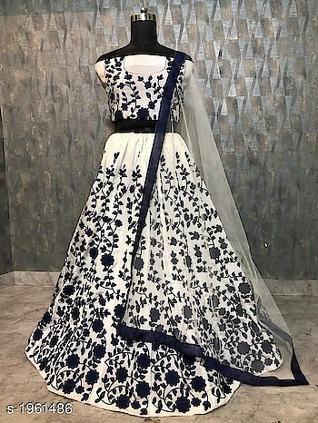 only -1450 order for whstsapp no -8360028409 Aradhya Stylish Women's Lehengas Vol 5  Note: Products From This Catalog Are Replica And Could Have Quality Issues    Fabric: Lehenga - Net, Blouse - Banglori Silk, Dupatta - Soft Net Size: Lehenga - Waist - Up To 28 in To 40 in, Blouse - 0.8 Mtr, Dupatta - 2.2 Mtr Length: Lehenga - Up To 42 in, Flair - 3 Mtr Type: Lehenga - Semi - Stitched, Blouse - Un Stitched Description: It Has 1 Piece Of Women's Lehenga, 1 Piece Of Blouse & 1 Piece Of Dupatta Work: Lehenga - Embroidery, Blouse - Embroidery, Dupatta - Lace Work Dispatch: 2 - 3 Days