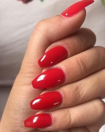 hot colour.. #hot #colour #nails #nailshape