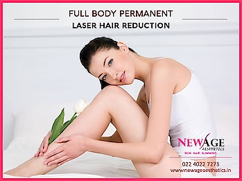 Be gorgeous with New Age Advanced Laser Hair Services.  Full Body Laser Hair Reduction   Rs.40,000/-* for 8 Sessions  Myth #1: Laser hair removal is painful.  WRONG! Lasers give you a tingling sensation. They also have a cooling tip making the process virtually painless.  Myth #2: I can not get laser hair removal on my bikini line or my private parts.  WRONG! Nearly any part of your body that has hair can be treated by laser hair removal.   Myth #3: I have to let my hair grow for a week before my appointment.  WRONG! If you have grown hair it would inhibit the laser process. Also do not wax, pluck or bleach prior to an appointment. Make sure you shave before you go for a laser treatment, it allows more of the laser energy to target the hair follicle below the skin and not the hair.  Myth #4: I have dark skin so laser hair removal will not work for me.  New technology laser now work for dark skin types effectively even on brown and black skin.  Myth #5: Laser hair removal does not give lasting results.  The hair growth reduces by 50-80%. Maintenance laser treatments every six months or year will help keep the hair gone and your skin smooth.  Myth #6: Laser hair removal takes hours.  Laser hair removal takes upto 1/2 an hour to 1-2 hours depending on the area you are treating.  Myth #7: I will immediately be smooth and hairless after a treatment.  You need a series of treatments to see the complete result. The end result is generally always satisfactory. #laserhairremoval