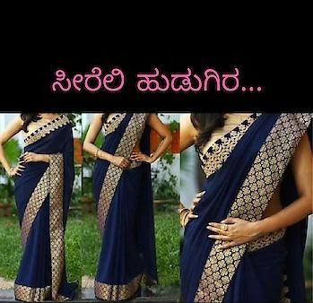 simple saree... 👌👌👌#saree-georgette #blousedesign