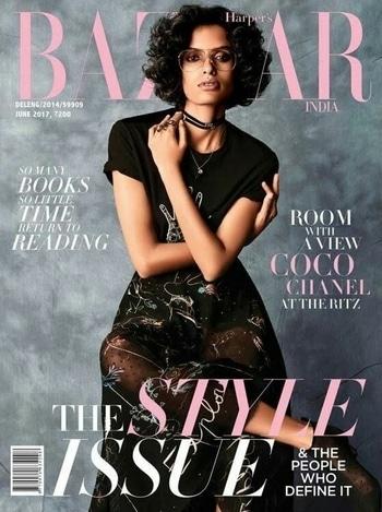 Supermodel Lakshmi Menon looks her eccentric best on the cover of Harper's Bazaar