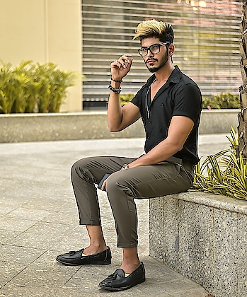 Gazing into that lens ! . . Hair by @hairfactorysurat . .  Outfit from @kollars.2018 . . Shot by @thedaydreamstudio . . #tsdfam #thestyledweller #black #grey #streetstyleformals #streetwear #menwithclass #menswear #mensfashion  #trouser #loafers #mensfashioninfluencer  #maleinfluencer #styleinfluencer #style #trend #shirt #blackshirt #summerformals #summerstyle #indianfashioninfluencer  #indianblogger  #surat  #suratinfluencer  #suratblogger  #india