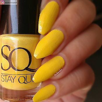 #Repost from @madovernailart with @regram.app   ...   Swatch of @stayquirky.in nail polish in the shade It's Yellow-Icious  #swatch#swatcher#swatchnails#like4like #InstaTags4Likes #liker #likes4likes #photooftheday #likeforlike #liketeam #likeback  #likealways#nailartoftheday#nailart#nailartlove#holo#holographic#sveta#simplynaillogical#yagala#kukoph#nailit#nailitdaily#nailstagram#essencecosmetics#essencecosmeticsnailpolish#breakthrough