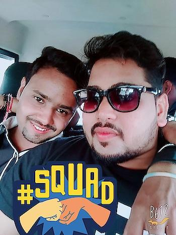 me nd my frnd👍 #squad