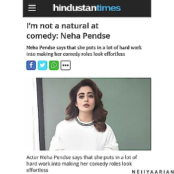 @nehhapendse Follow 👉👉👉 @nehhapendse & @neiiyaarian_fc ... An Inspiring & Motivational Interview Of Neiiya Pendse Mam With #HindustanTimes By #AnjaliShetty ... We Salute Your Hardwork & Your Passion ... God Bless You ... Love You Always ... Courtesy : #Neiiyaarian ...!!!😊😊😘😘😍😍💗💗💟💟💖💖💞💞💕💕👌👌👏👏