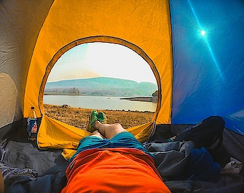 There is no wi-fi in the  forest but  I promise you will find a better connection Thanks @campoutindia  #landscape#camping #gopro #getoutside #camp #goprotravel #summercamping #photooftheday #sunrise #camplife #explore#comment4comment#travel #goprohero#goprohero5 #lake #lakeside #morning #decathlon#travelindia #travelphotography #planetearth #beautiful#imf_vti