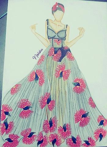 #fashionillustrations #ropo-girl #ottdinspiration #designer-wear #bestylish #moretocome