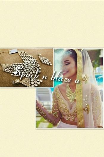 Kundan beautiful designer neckpeice with earrings and maang teeka  #kundanhaar #kundanmala #jewelry #jewelrydesigner #wedding #weddingseason #indianbride #india #London #Uk #US #Paris #canada #Dubai #jersey #nath #nosering #indianbridechoice #oversize #chaandbaalies #jhumki #earrings #punjabijewellry