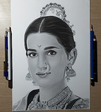 Drawing #kritisanon as Parvati Bai from Panipat movie   Size : A4 Time : 19:40+ hrs. Real work time ( I know i took Extra🤷🏻♂️) . Check My another Account Instagram: @vikas_arts18 YouTube: VIKAS ARTs . .#kritisanon #kritikharbanda #kritisanonfans #kritisanonfc #kritisanonworld #kritisanonfans #panipat #kritisanon_and_maheshbabu #kritika #panipatchallenge #panipatladhae #drawing #drawingoftheday #drawings #drawingbook #drawingbyme #sketch #sketchbook #sketching #sketches #sketchoftheday #sketchart #sketchartist #sketch_daily @kritisanon @kritisanon6 @kritisanon