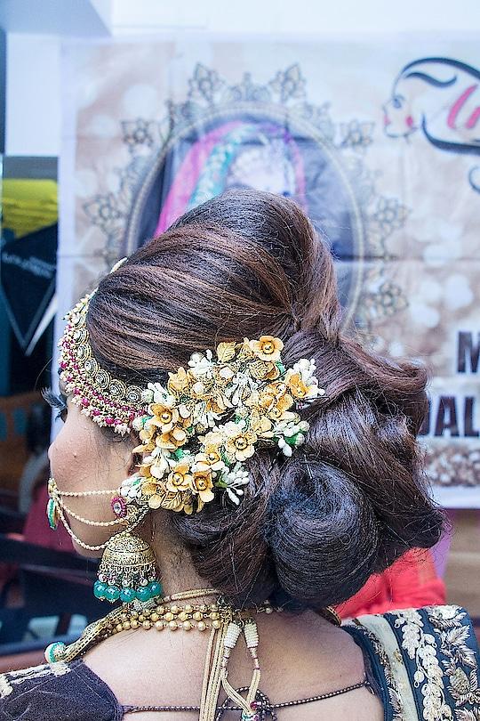 Hairstyle for Rajwada bride