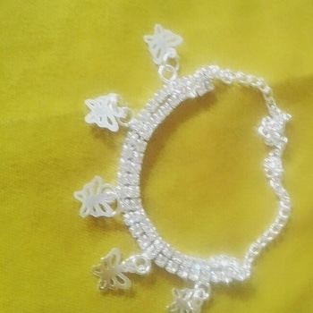 a bracelet with butterfuly