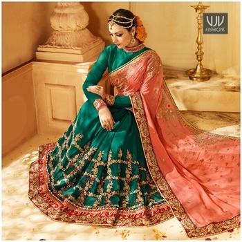 Buy Now @ https://goo.gl/7wFd2G  Dignified Jacquard Moti Work Half N Half Designer Saree  Fabric-Georgette, Jacquard  Product No 👉VJV-SHIV2610  @ www.vjvfashions.com  #chaniyacholi #ghagracholi #indianwear #indianwedding #fashion #fashions #trends #cultures #india #womenwear #weddingwear #ethnics #clothes #clothing #indian #beautiful #lehengasaree #lehenga #indiansaree #vjvfashions #bridalwear #bridal #indiandesigner #style #stylish #bollywood #kollywood #celebrity #outfits #vjvfashions #sarees