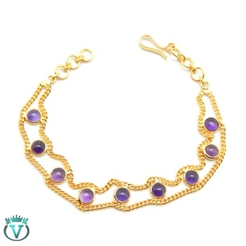 Beautiful Sterling Silver Bracelet with Natural Amethyst Gemstone #Rs.1053   #COD available in India For more information visit : www.thevcollection.in  #jewelry #fashion #beautifuljewelry #earrings #bangalore #delhi #handmadejewelry #onlineshop #womensfashion #girls #partywear #designerwearindia #girlystuff #party #bracelet