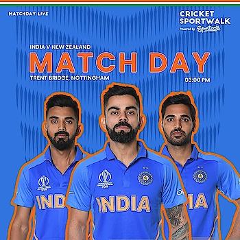 👊 IT'S MATCHDAY for @teamindiasports 🏟 Trent Bridge 🕦 03: 00 PM IST . . . #INDvNZ #IndvsNZ #cwc19 #cwc2019 #cricketworldcup #teamindia #viratkohli #msdhoni #shikhardhawan #rohitsharma #klrahul #vijayshankar #kedarjadhav #hardikpandya #jaspritbumrah #kuldeepyadav #yuzvendrachahal #mohammedshami #bhuvneshwarkumar #ravindrajadeja #dineshkarthik #worldcup #cricket #sportwalk