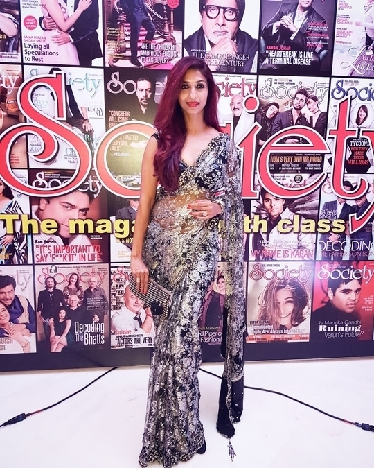 #sandhyashetty #model #actor #emcee #anchor #karate #fitness #sareeswag #indian #lace #lovelivelaugh #beyourself #manga #societymagazine #societyawards my Saree by #oraios #kaushikshrimanker