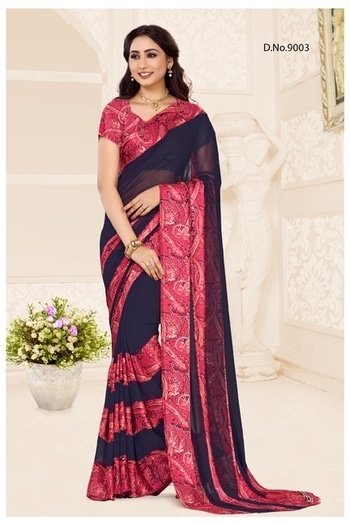 Georgette sarees with satin border.  cool and comfortable. Rs 1200.  #attractivecolourcombination #stylishwear #moderncollection #pocketfriendly .
