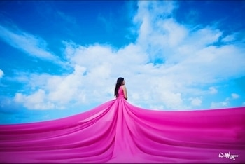 Cause in a sky full of Clouds 🌥 I see you 💞  New post on the blog giving all the outfit details- Exotic Fluido by Namzish #clickthelinkinmybio #PinkInfinityGown by @namzish #GownsOnRent #MUAH @kreenamakeup  #Clicked @weddingrams . . . . . #ootd #ootdfashion #pinkgown #pinkdress #pinkness #blushpink  #saturdayblues #intifinity #gown #neverends #beautiful #exotic #couture #couturegown #couturefashion #couturecollection #thelifestylediaryy