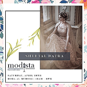 We've got the sparkle!!!  Find dresses for every invite with Sheetal Batra's spring collection at Modista on 28th April , @rodaalmurooj Dubai from 10am - 8pm!! . . . #Event #Fashion #Preview #Trunkshow #DubaiEvent #DubaiParties #Luxury #Gowns #Dresses #DXBEvents #PartySeason #PartyPreview#Modistadxb #Fashion #FashionHouse #fashionLifestyle #LifestyleExhibition #RodaAlMurooj #Dubai #DubaiEvents #EventinDubai #shoppers #MyDubai #Uae #SheetalBatra #ShopNow #SpringWeddings #LoveForPastels #SheetalBatra #ShopNow #Sparkle