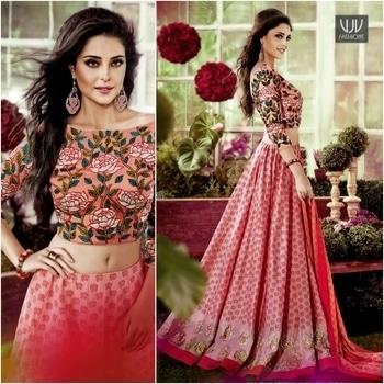 Buy Now @ https://goo.gl/0qLwjN  Ravishing Pink Color Chanderi Designer Lehenga Choli  Fabric- Chanderi  Product No 👉 VJV-FORM1009  @ www.vjvfashions.com #lehengas