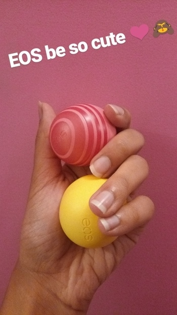 Lip balm love ❤❤❤❤  #eos #lips #lipbalm #balm #cute #pink #grapefruit #lemon #fragrance #love #smell #yum #soroposolove #sogood #skincare #skin #winter #moisture #supple #soft #kisses #kissable #kissablelips #adorablelook #nails #healthy #french #frenchmanicure