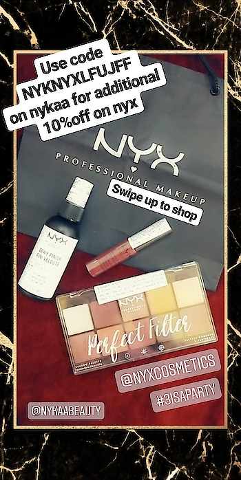 Use code NYKNYXLFUJFF on nykaa for additional 10%off on nyx products. #nyx #makeup #online-shopping