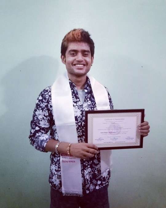 """Thank You (IBM) for choosing me as the winner of the """"Delhi Magic Convention"""" Magician Senior Competition!"""