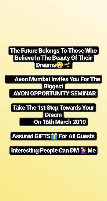 Avon OPPORTUNITY Seminar Tomorrow In Thane #avon #avonindia #avonbeauty #ropo-makeup