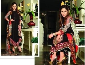 Aiesha Varsey Lawn embroidered suit chiffon dupatta chiffon sleeves