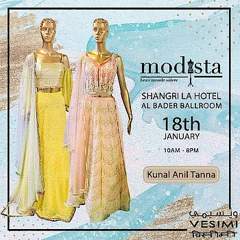 Beautiful Lucknowi chikankari embroidery on a textured fabric with pastel touch by #KunalAnilTanna on 18th January from 10am to 8pm at Shangri-La Hotel, AL Bader Ballroom... . . . #fashion #fashionexhibition #dubailuxurylifestyle #Vesimi #Modista #Dubai