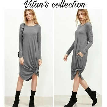 Get this stylish knot Hem dress..😍😍 Free shipping. Cod available.  Shop link in the bio section.  Message us to know more details.  #shop #shopnow #shoponline #shopaholic #shoptillyoudrop #fashion #trendy #trendsetter #girls #clothing #bestylish #befashionable #trendalert #onlinestore #vitanscollection #roposo