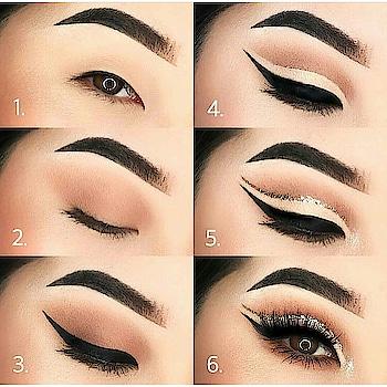 eye makeup #my-eyemakeup #eyemakeuptutorial #eyemakeuplove #greenish-glittery-eyemakeup #soroposofashion #roposogal #staytunedformore