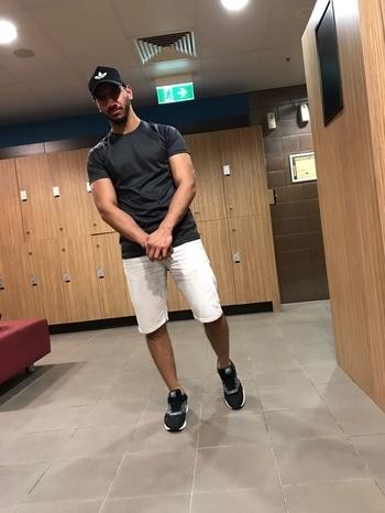 After workout.   #fitnessmodel #fitnessmotivation #fitness #men-fashion #men #beardedmen #lifestyle #lifestyleblog  #nikeshoes #ootd #ootdroposo