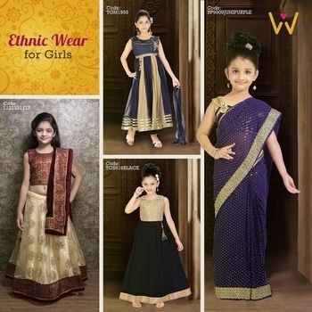 Doll up your little angel for the weddings she attend in the most fashionable way with the exuberant collection from WedLista.com!  #WedLista #FashionForWeddings