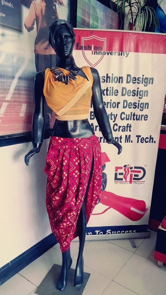 draping 👗 placed by EIFD student's panipat