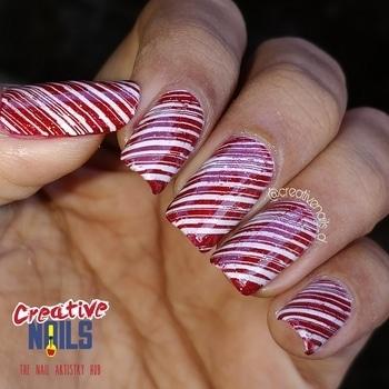 https://creativenails.in/2017/12/25/christmas-candy-on-nails/ #creativenails_d #creativenails_beautyprooducts #ropo-love #santalove #santaclause #christmasnailart #christmasgift
